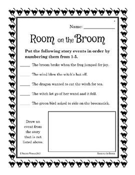 Room on the Broom Companion Worksheets