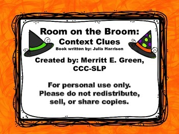 Room on the Broom Context Clues {FREEBIE}