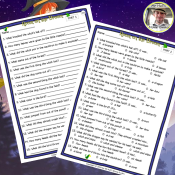 Room on the Broom Movie Guide + Writing Activities - Answer Keys Inc.