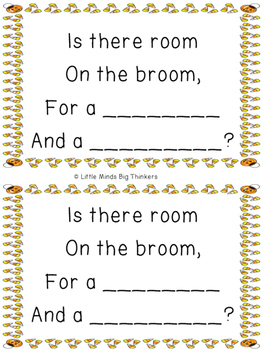 Room on the Broom Rhyming Activity