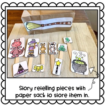 Room on the Broom Crafts: Story Retelling Puppets & Class Book: Halloween Crafts
