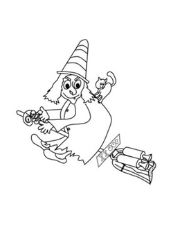 Room on the Broom Word Search and Color