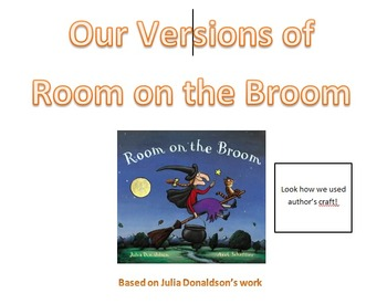 Room on the Broom writing frames and sign