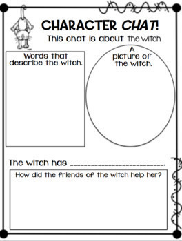 Reader's Theater, Craft, and  Activities to accompany Room on the Broom!