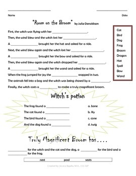 """Room on the Broom""_Advanced Review Worksheet"