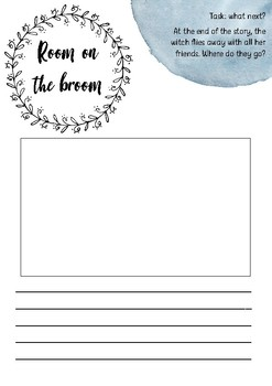 Room on the broom - creative writing printable