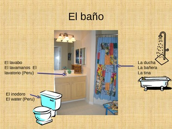 Rooms/ Furniture/ Chores PowerPoint, Expresate Chapter 2, Spanish 2