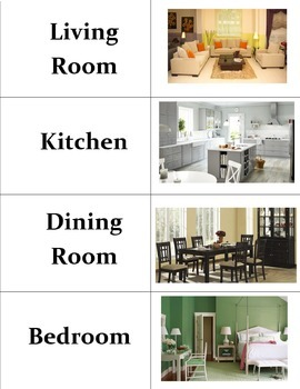 Rooms In A House Vocabulary Bundle
