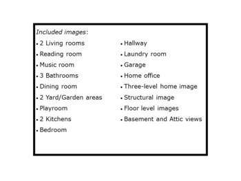 Rooms Of The Home Clipart Images / Imágenes de las partes de la casa