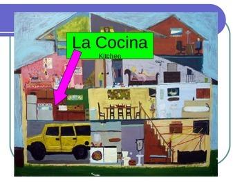 Rooms and Chores vocabulary slide show