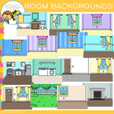 Rooms in a House Backgrounds Clip Art