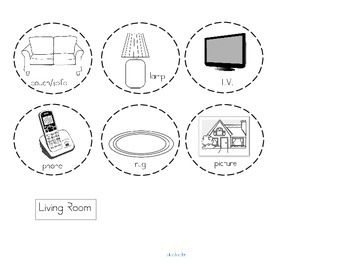 Rooms in a House Categorizing