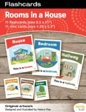 Rooms in a House Flashcards / Set of 11 / Printable