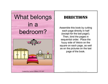 Rooms in a House - Interactive Vocabulary Book