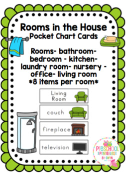 Rooms in a House Pocket Chart Cards