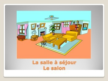 Rooms in the House (La Maison) French Vocabulary Flashcards