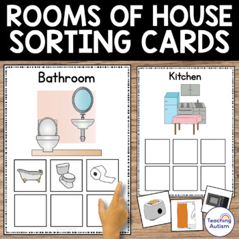 Rooms of the House Category Sorting Cards