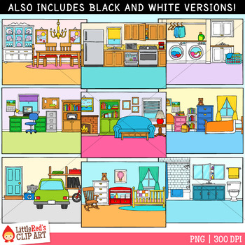 Rooms of the House Clip Art