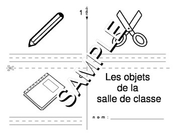 Back to School / Classroom Objects FRENCH Workbook