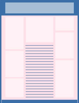 Roomy Newsletter Template Pink and Blue