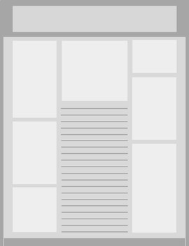 Roomy2 grayscale newsletter template