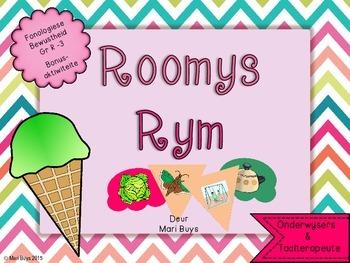 Afrikaans Roomys Rym Fonologiese Bewustheid