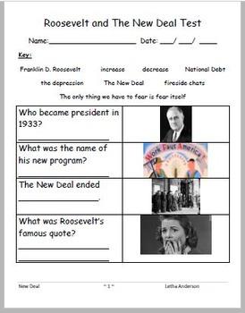 Roosevelt New Deal VAAP VUS.10 High School HS-E 28 (Help for not just Autism)