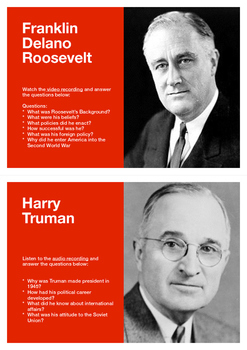 Roosevelt and Truman Podcast Postcards