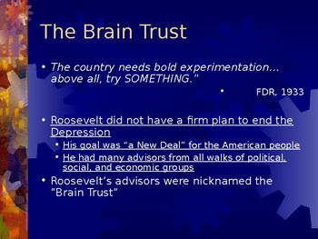 Roosevelt and the New Deal PowerPoint