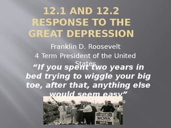 Roosevelt's Response To The Great Depression