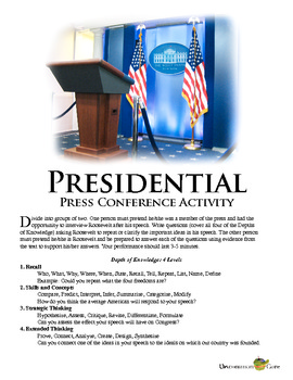 Roosevelt's Four Freedoms Speech: A Presidential Press Conference