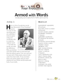 Roosevelt's Four Freedoms Speech Vocabulary Activity with Quiz