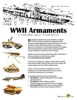 Roosevelt's Four Freedoms Speech: World War II Armaments Presentation