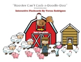Rooster Can't Cock-a-Doodle-Doo Flashcards for Storybook