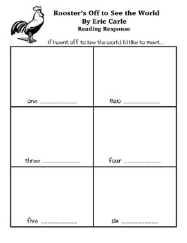 Rooster's Off to See the World Worksheet