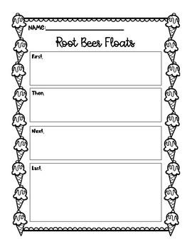 Root Beer Float Experiment Activity Sheet