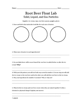 Root Beer Float Lab