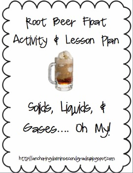 Root Beer Float Science Inquiry Lesson Plan & Handout - Solid, Liquid, Gas
