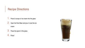 Root Beer Float Visual Recipe