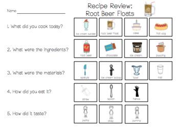 Root Beer Floats (Visual Recipe & Worksheets)
