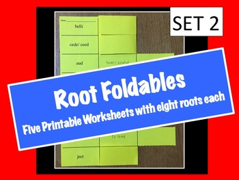 Root Foldables (40 Roots and Meanings) SET 2
