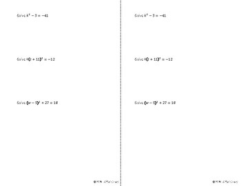 Root Method Notes Sheet
