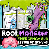 Back to School Science - Root Monster - Science Sub Plan o