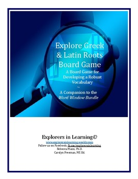 Root Road Rally Board Game:  Exploring Greek & Latin Roots