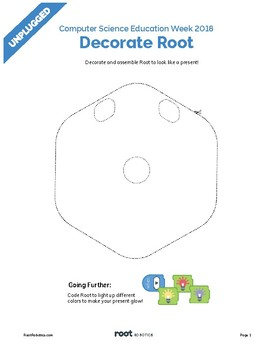 Root Robot Costume Template