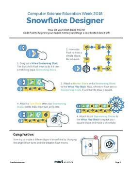 Root Robotic Snowflake Designer (Beginner)