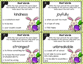 Root Word Task Cards