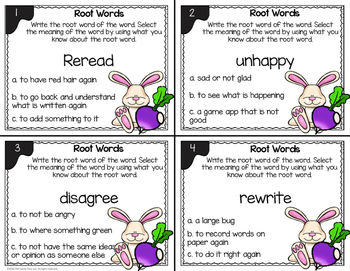 Root Word Task Cards - L.2.4.C