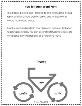 Root Word Bicycle Poster