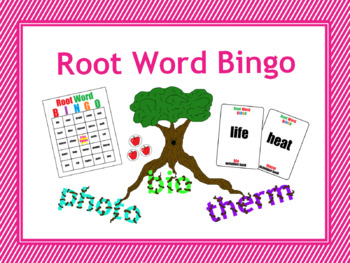 Root Word Bingo